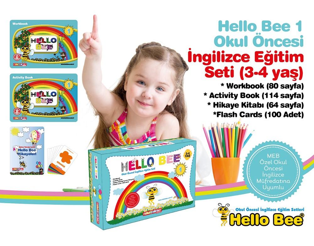 Hello Bee 1 Okul Öncesi İngilizce Eğitim Seti