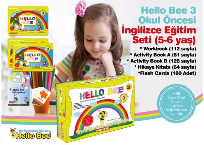 Hello Bee 3 Okul Öncesi İngilizce Eğitim Seti