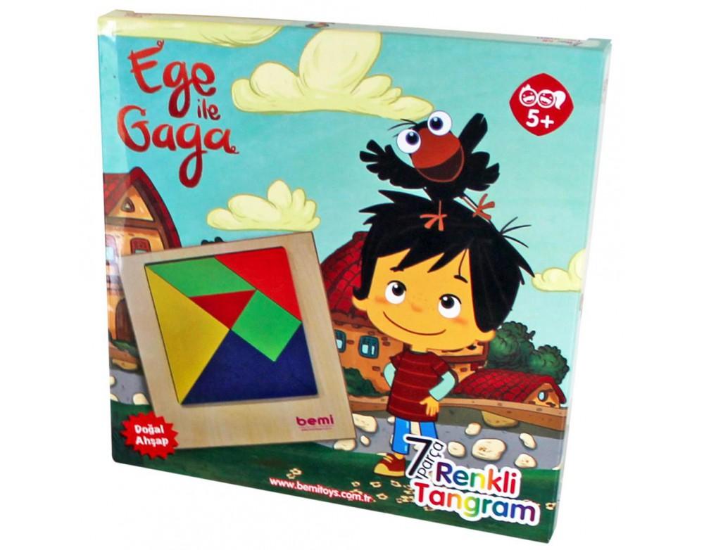 Ege ile Gaga Renkli 7 li Tangram