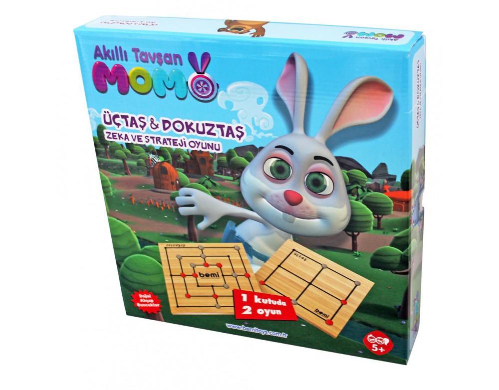 Akıllı Tavşan Momo Üçtaş & Dokuztaş