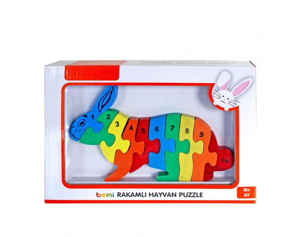 3D Rakamlı Tavşan Puzzle