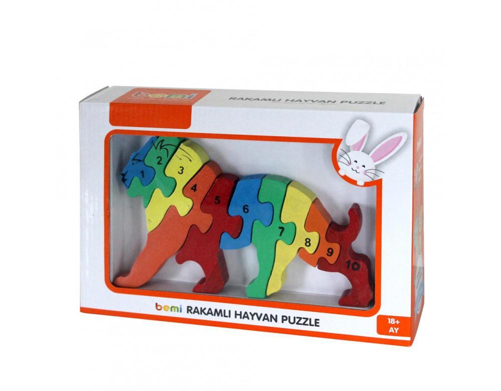3D Rakamlı Aslan Puzzle