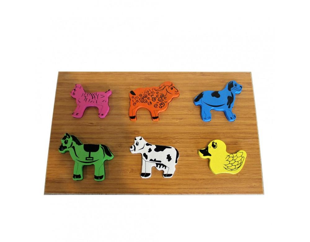 Hayvanlar Puzzle Ahşap