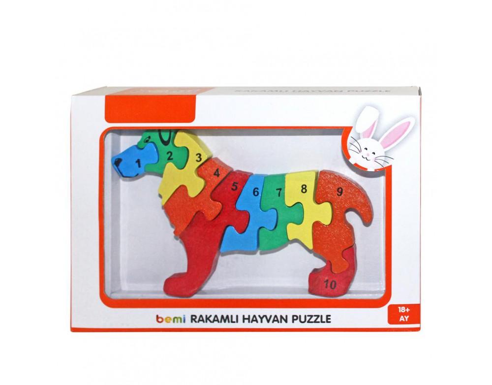 3D Rakamlı Köpek Puzzle